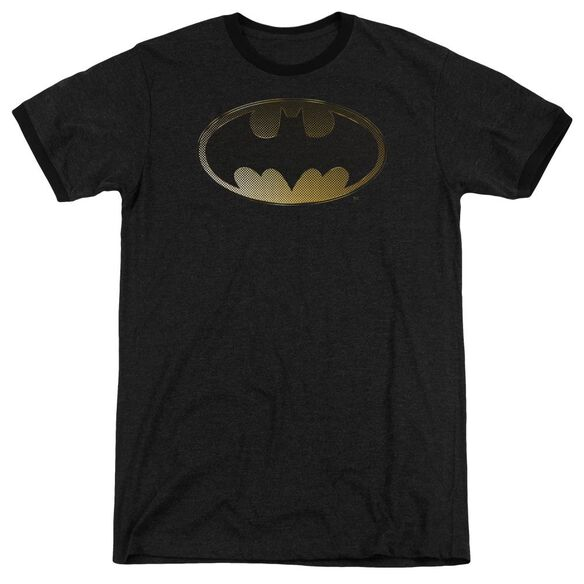 Batman Halftone Bat Adult Heather Ringer