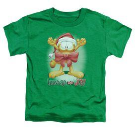 Garfield Unwrap The Joy! Short Sleeve Toddler Tee Kelly Green T-Shirt