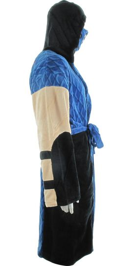 Mortal Kombat Sub-Zero Costume Hooded Fleece Robe