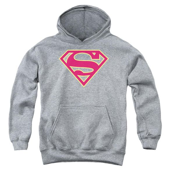 Superman Red & Gold Shield Youth Pull Over Hoodie Athletic