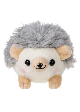 Grey Hedgehog Plush Keychain