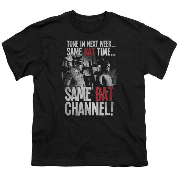 Batman Classic Tv Bat Channel Short Sleeve Youth T-Shirt