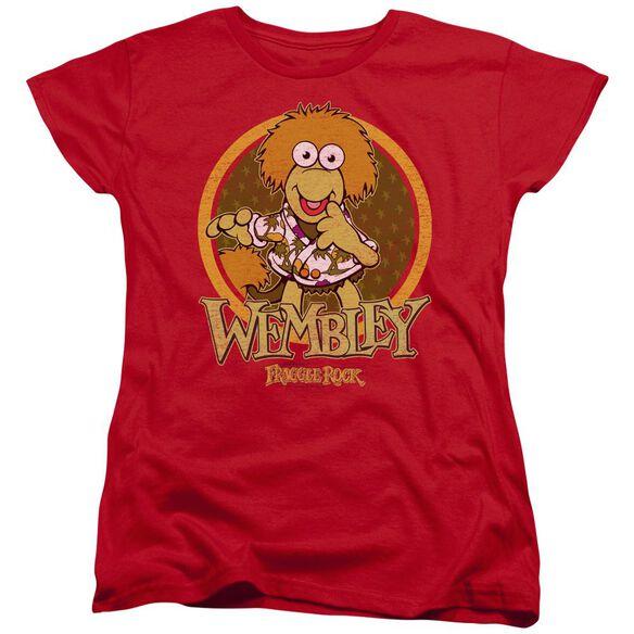 Fraggle Rock Wembley Circle Short Sleeve Womens Tee T-Shirt