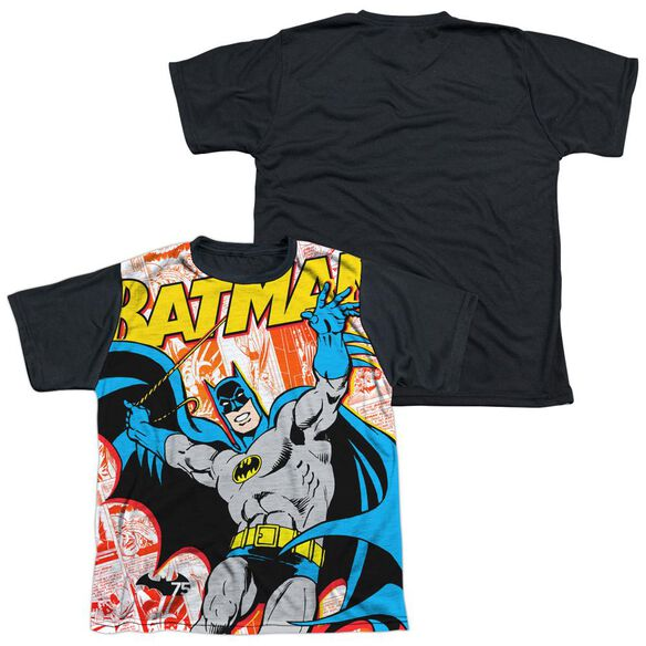 Batman 75 Panels Short Sleeve Youth Front Black Back T-Shirt