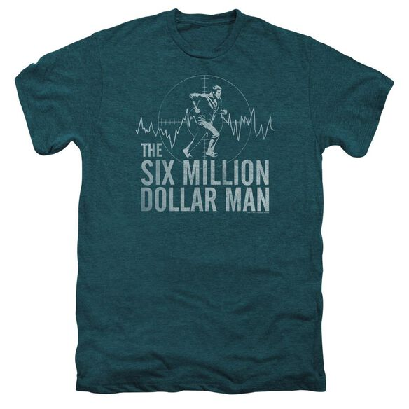 Six Million Dollar Man Target Short Sleeve Adult Premium Tee Deep Teal T-Shirt