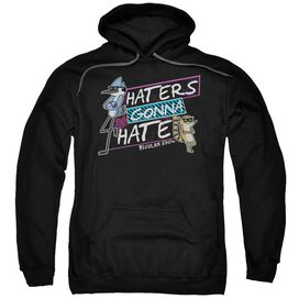 Regular Show Haters Gonna Hate Adult Pull Over Hoodie