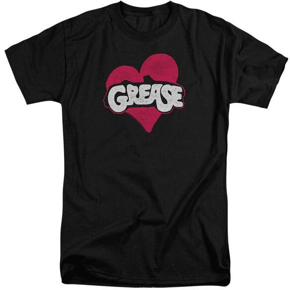 Grease Heart Short Sleeve Adult Tall T-Shirt