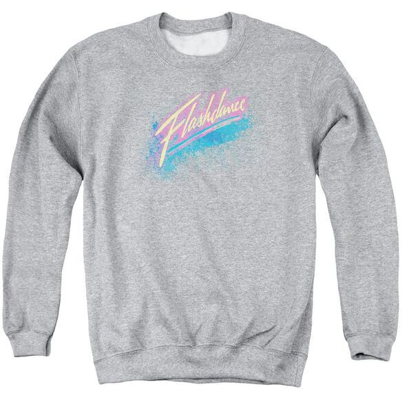 Flashdance Spray Logo Adult Crewneck Sweatshirt Athletic