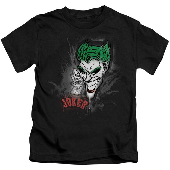 Batman Joker Sprays The City Short Sleeve Juvenile Black T-Shirt
