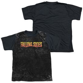 Falling Skies Harness Short Sleeve Youth Front Black Back T-Shirt