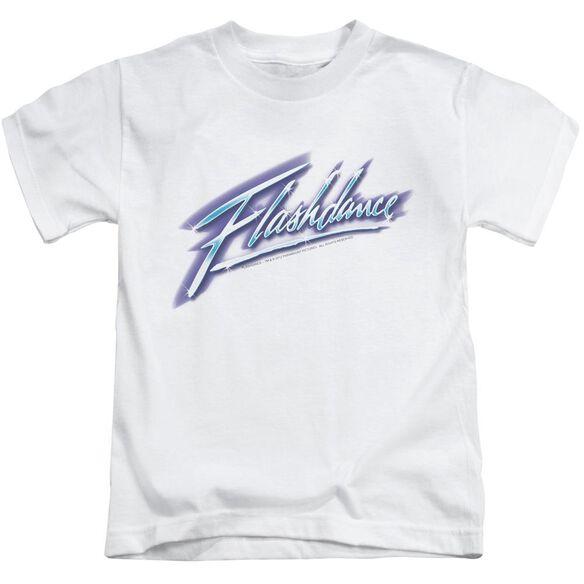 Flashdance Logo Short Sleeve Juvenile White T-Shirt