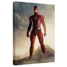 Justice League Movie Jlm Flash Canvas Wall Art With Back Board