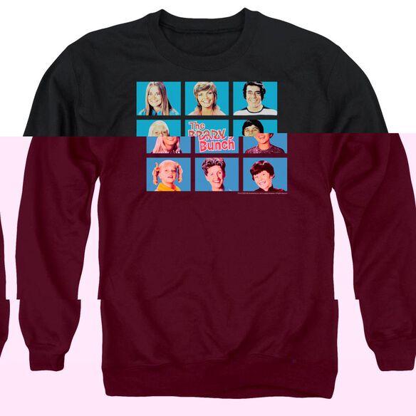 Brady Bunch Framed - Adult Crewneck Sweatshirt - Black