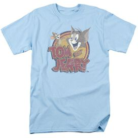 TOM AND JERRY WATER DAMAGED-S/S ADULT T-Shirt