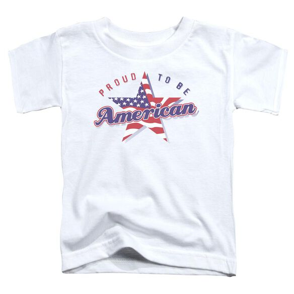 Proud To Be American Short Sleeve Toddler Tee White Md T-Shirt