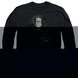 THE MUNSTERS MAN OF THE HOUSE - L/S ADULT 18/1 - BLACK T-Shirt