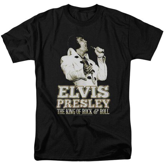ELVIS PRESLEY GOLDEN-S/S ADULT 18/1 - BLACK T-Shirt
