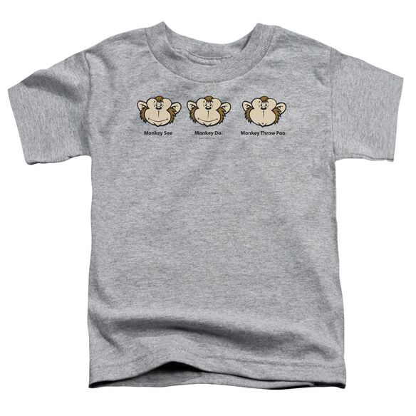 Monkey See... Short Sleeve Toddler Tee Athletic Heather Md T-Shirt