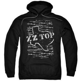 Zz Top Barbed Adult Pull Over Hoodie
