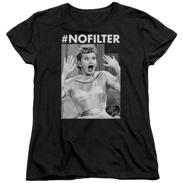 I Love Lucy No Filter Short Sleeve Women's Tee T-Shirt