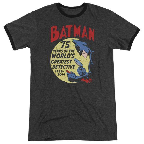 Batman Detective 75 Adult Heather Ringer Charcoal