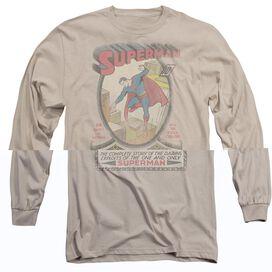 DC SUPERMAN 1 DISTRESSED - L/S ADULT 18/1 - SAND T-Shirt