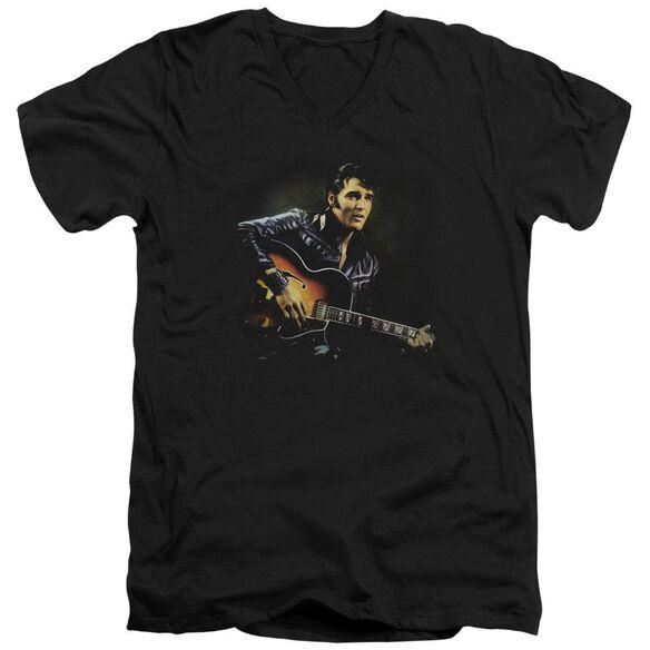Elvis 1968 Short Sleeve Adult V Neck T-Shirt