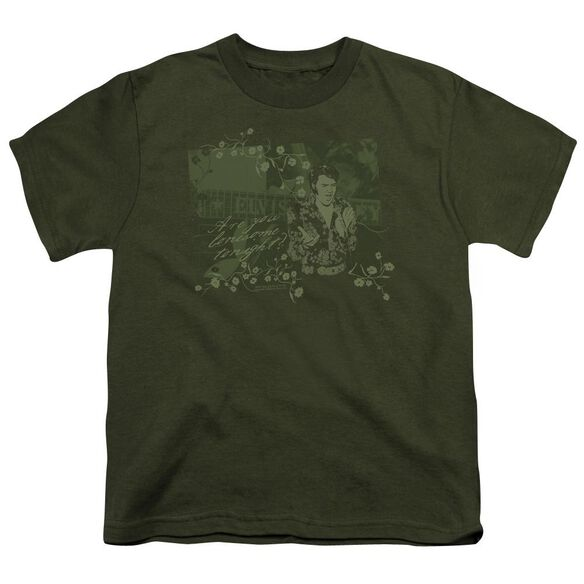 Elvis That 70s Elvis Short Sleeve Youth Military T-Shirt