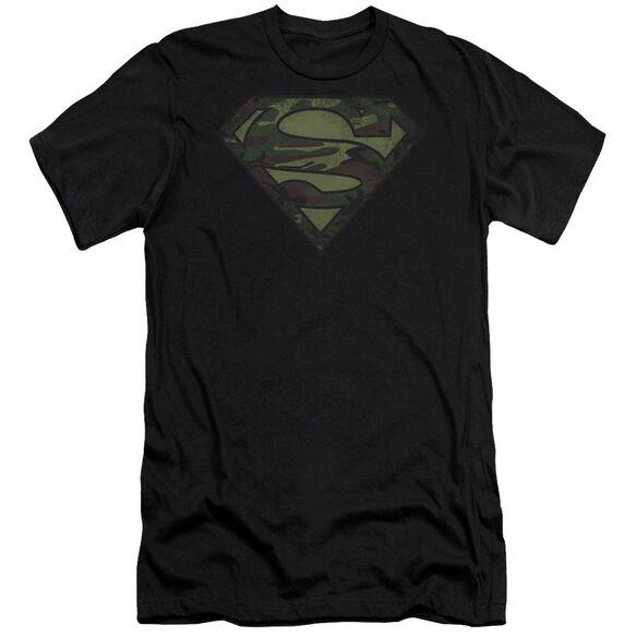 Superman Camo Logo Distressed Premuim Canvas Adult Slim Fit