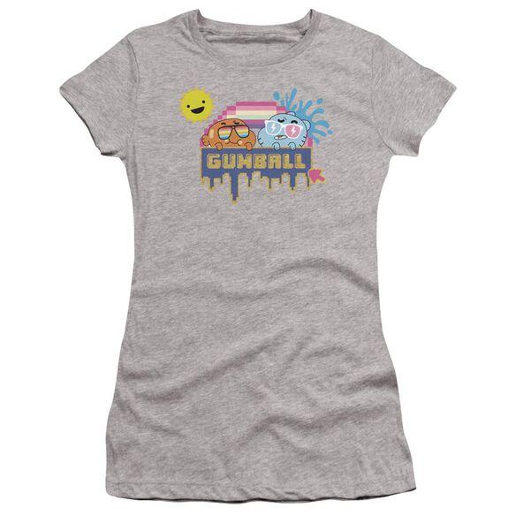 Amazing World Of Gumball Sunshine Hbo Short Sleeve Junior Sheer Athletic T-Shirt