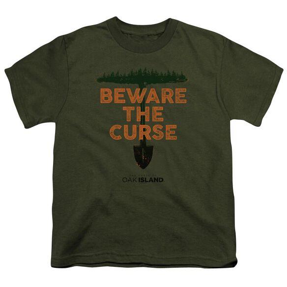 The Curse Of Oak Island Beware The Curse Short Sleeve Youth Military T-Shirt