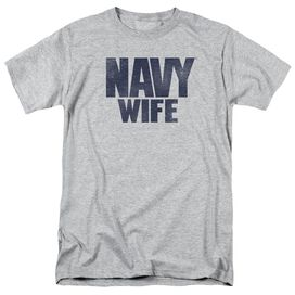 Navy Wife Short Sleeve Adult Athletic Heather T-Shirt