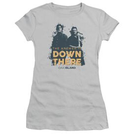 The Curse Of Oak Island Down There Short Sleeve Junior Sheer T-Shirt