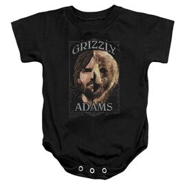 Grizzly Adams Half Bear Infant Snapsuit Black
