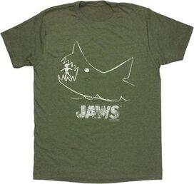 Jaws Chalk Heathered T-Shirt Sheer