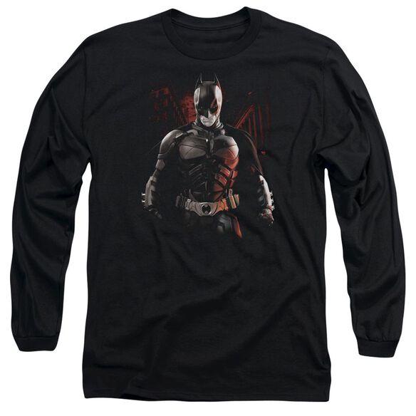 Dark Knight Rises Batman Battleground Long Sleeve Adult T-Shirt