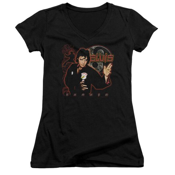 Elvis Karate Junior V Neck T-Shirt