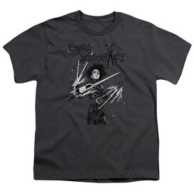 Edward Scissorhands Snowy Night Short Sleeve Youth T-Shirt