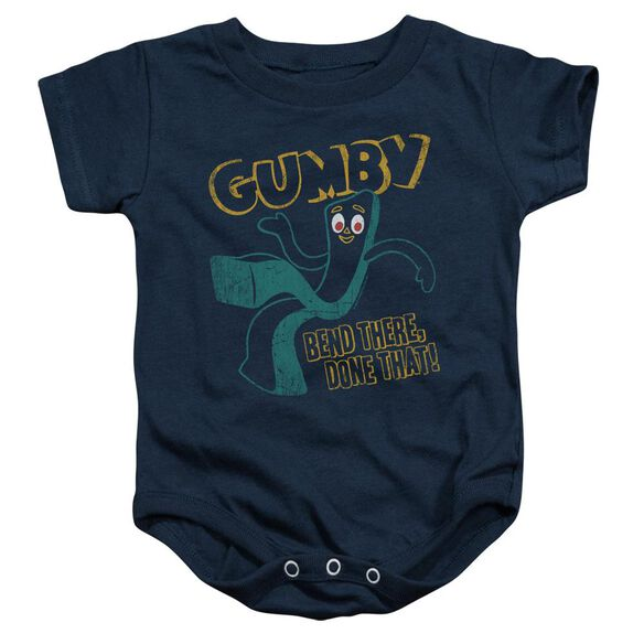 Gumby Bend There Infant Snapsuit Navy