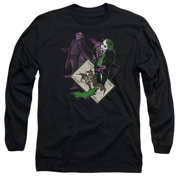 Dark Knight Wild Card Long Sleeve Adult T-Shirt
