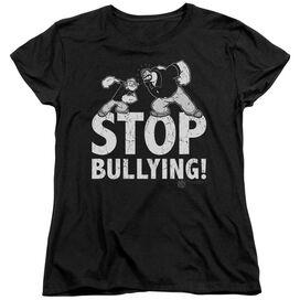 Popeye Stop Bullying Short Sleeve Womens Tee T-Shirt