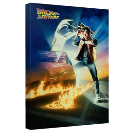 Back To The Future Bttf Poster Canvas Wall Art With Back Board