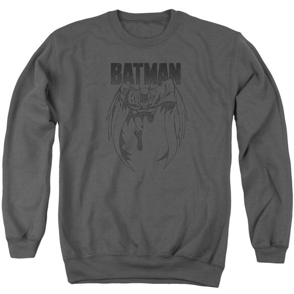 Batman Grey Noise Adult Crewneck Sweatshirt