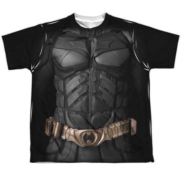 Dark Knight Batman Costume Short Sleeve Youth Poly Crew T-Shirt