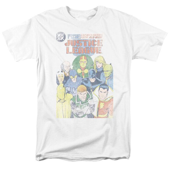 Jla Justice League #1 Cover Short Sleeve Adult T-Shirt
