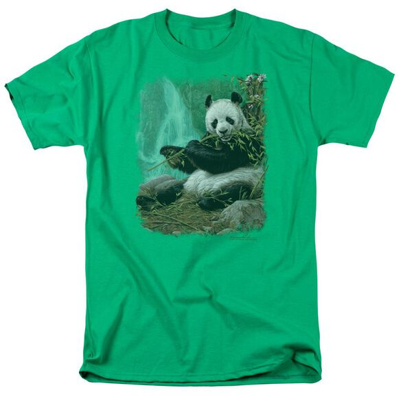 Wildlife Citizen Of Heaven On Earth Short Sleeve Adult Kelly Green T-Shirt