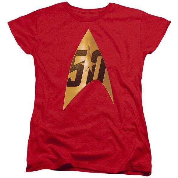 Star Trek 50 Th Anniversary Delta Short Sleeve Womens Tee T-Shirt