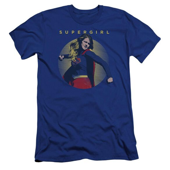 Supergirl Classic Hero Premuim Canvas Adult Slim Fit Royal