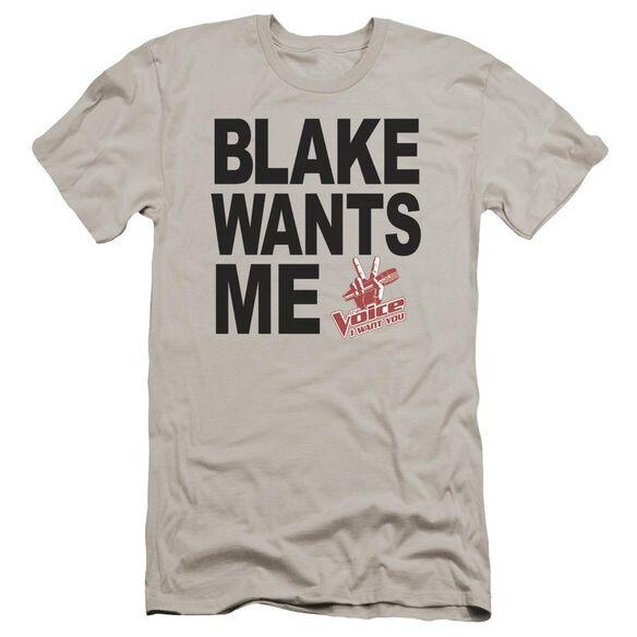Voice Blake Wants Me Premuim Canvas Adult Slim Fit