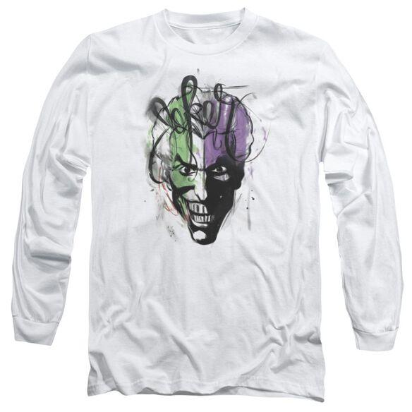 Batman Joker Airbrush Long Sleeve Adult T-Shirt